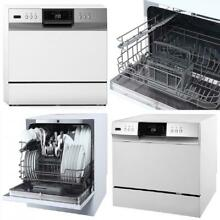 Energy Star Countertop Portable Dishwasher 6 place setting LED White Stainless