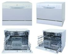 Countertop Dishwasher Silver 6 wash cycles  Heavy  normal  light  mini party New