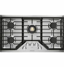 GE MONOGRAM ZGU36RSLSS 36  GAS COOKTOP WITH DUAL FLAME  RETAIL  1930