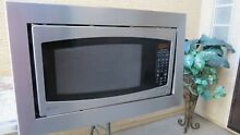 GE PROFILE JE2160SF 24  BUILT IN MICROWAVE OVEN WITH TRIM KIT