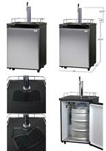 Full Size Keg Beer Cooler Refrigerator Single Faucet D System Stainless Steel US