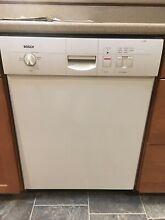 Bosch dishwasher  good cond  Two racks  quiet  works well  Older model  white