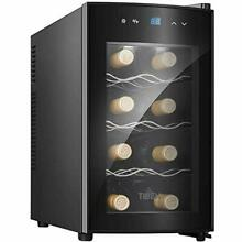 Wine Cooler Refrigerator Thermoelectric Wine Fridge 8 Bottle Wine Cellar with Te