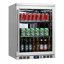 KingsBottle 140 Can 1 Door Under Counter Beverage Cooler Heating Glass