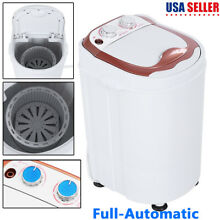 Mini Portable Full Automatic Dorm Compact Washing Machine Spin Laundry Washer US