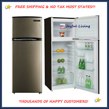 Stainless Steel  Refrigerator Freezer 7 5 cu ft Reversible Door Kitchen Bar Dorm