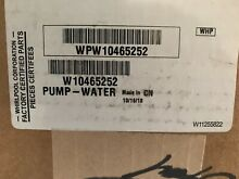 WPW10465252  Washing Machine Drain Pump For Whirlpool   Maytag
