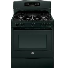 GE PGB920DEFBB 30  Black Freestanding Gas Range w 5 Sealed Burners NEW  6862 MAD