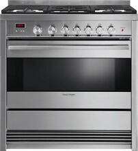 Fisher Paykel OR36SDBMX1 36  Stainless Freestanding 5 Burner Gas Range NIB HRT