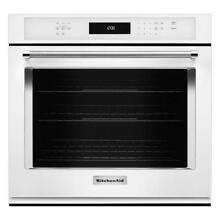 Kitchenaid 30  Single Electric Wall Oven  Cleaning Convection  White KOSE500EWH