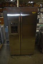 GE GZS22DSJSS 36  Stainless Side By Side Refrigerator NOB  38701 MAD