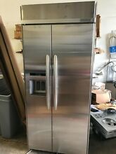 KitchenAid KSSC36QTS 36  Built In Side by Side Refrigerator 20 8 Cu  Ft