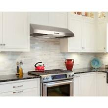 Presenza 30 in  Under Cabinet Range Hood in Stainless Steel with LED Light