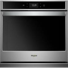 WHIRLPOOL 30  STAINLESS SINGLE ELECTRIC CONVECTION WALL OVEN WOS72EC0HS