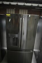 GE GFD28GBLTS 36  Black Stainless French Door Refrigerator  44543 HRT