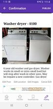 Washer and gas dryer set used
