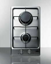 Summit GC22SS 12  Built in Gas Cooktop 2 Sealed Burners Stainless Steel NEW