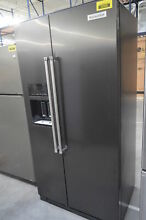 KitchenAid KRSC503EBS 36  Black Stainless Side by Side Refrigerator  29356 HRT
