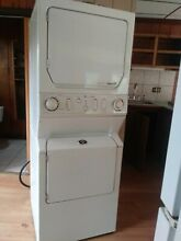 Maytag Neptune white stackable washer dryer  Dryer Propane NOT electric