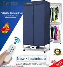 Air Clothes Dryer Heater Electric Drying Machine Home Indoor Dorms Hanger US