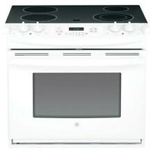 GE 30  White Drop In Electric Range JD630DFWW New Open Box