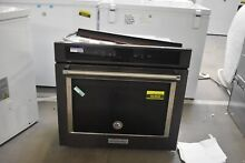 KitchenAid KOSE900HBS 30  Black Stainless Electric Wall Oven NOB  46468 HRT