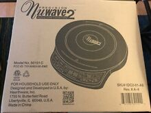 NuWave Precision 2 Induction Cooktop Electric Portable Black  New