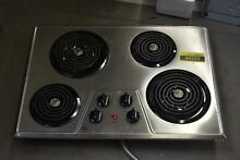 GE JP328SKSS 30  Stainless Electric Coil Cooktop  44259 HRT