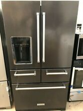 KitchenAid KRMF706EBS 25 8 cu  ft  French Door Refrigerator in Black Stainless