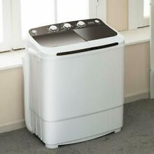 17lbs Washing Machine Portable Compact Twin Tub Spinner Washer Dryer Laundry