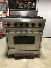 EXCELLENT USED VIKING 30  PRO STYLE GAS RANGE  VGSC3064B