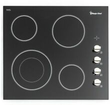 MAGIC CHEF 24 in  Radiant Electric Wide Cooktop with 4 Radiant Elements  Black