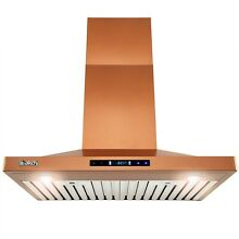 30  Wall Mount Copper Stainless Steel Kitchen Range Hood with Touch