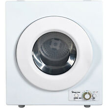 Compact Electric Dryer Stainless Steel Sensor Apartments Dorms 2 6 cu ft White