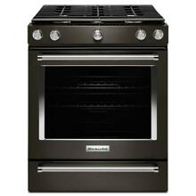 KitchenAid KSGG700EBS 30  Black Stainless Slide In Gas Range residential deliver