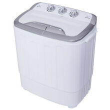 Mini Twin Tub Dryer Washing Machine 8 lbs Compact with Lightweight Portable DIY
