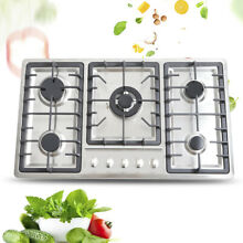 Built In 5 Burners Stove Top Gas Cooktop Kitchen Gas Cooking Easy Clean 33 8
