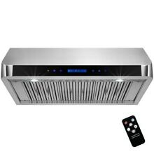 AKDY 36 in  Under Cabinet Range Hood in Stainless Steel with LEDs and Electronic