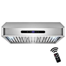 AKDY 30  600 CFM Ducted Under Cabinet Range Hood  Stainless Steel w LED Lighting