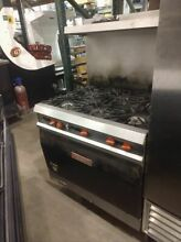 Vulcan 6 burner stove with convection oven