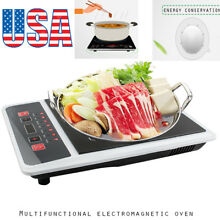 Electric Induction Cooker Single Burner Digital Hot Plate Cooktop Countertop AA