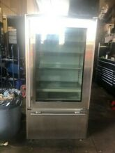 Sub Zero 36  Built In Refrigerator 650G S Glass Front  Stainless Steel Used