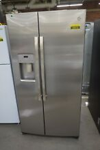 GE GZS22IYNFS 36  Stainless Side by Side Refrigerator CD NOB  50513 HRT