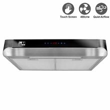 Livetech Stainless Steel 30 In Under Cabinet  DUSTED  Kitchen Range Hood