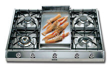 ILVE  36  Pro Style Gas Cooktop  5 Burners   Griddle   Stainless Steel