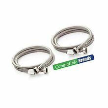 Washing Machine Hoses Burst Proof 6 Ft Stainless Steel Braided   2 Pack