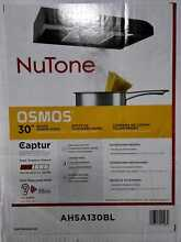 NuTone Osmos 30 in  Convertible Under Cabinet Range Hood with Light in Black