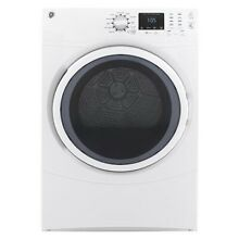 GE GFD43ESSMWW 27  White Front Load Electric Dryer 7 5cu ft  New