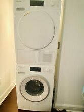 LIGHTLY USED Miele Washer and Dryer w  Manufacturer s Warranty and Stacking Pckg