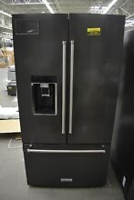 KitchenAid KRFC704FBS 36  Black Stainless French Door Refrigerator CD  52164 HRT